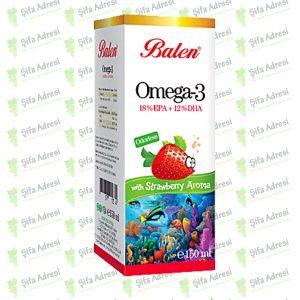Çilek Aromalı Omega 3 Balık Yağı